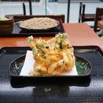 味奈登庵 - 料理写真:海鮮かき揚げ天