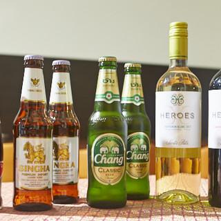 料理にピッタリなアジアのお酒もご用意しております。