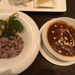 89707683 - ハヤシライス 1600円 ※雑穀米を選択 ※これに前菜3点が付く