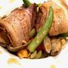 ふれんちん - 料理写真:夏野菜と炙り豚バラ ボンゴレチャーシュー