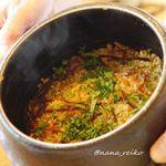 89708293 - 梅干しと塩昆布の炊き込みご飯。おかわりできました。