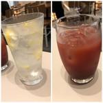 ブリオッシュ ドーレ - ◆左:レモンサワー(550円) ◆右:カシスオレンジ(620円)・・濃厚で美味しい。