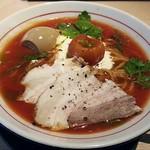 拉麺開花 - 【(限定) 冷たいトマトクリームラーメン + 旨味味玉】¥880 + ¥100