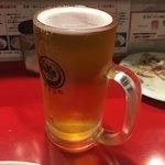 東京MEAT酒場 - 泡なしビールが店主のこだわりだとか!