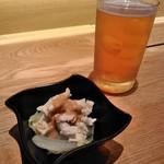 蔵出し和酒と江戸前天ぷら 甲州街道 賽 - [料理] この日のお通し & Craft Beer
