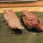 89715234 - キンキの炙り(左)と頭肉(右)