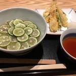 松玄 - すだち蕎麦セット(天ぷら)
