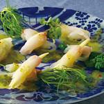 市場直送 地魚の刺身を姫野菜で彩ったカルパッチョ