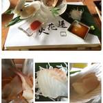 鎌倉山 - 前菜は帆立、北寄貝、スズキ