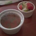 8972204 - セットサラダとスープ
