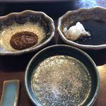 たくみ - 自家製もろみ味噌ダレ・天然塩・自家製ステーキソース