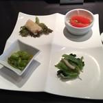 中国料理 桃李蹊 - 小籠包ランチの前菜