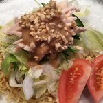 中国料理 桃李蹊 - 冷麺のセット(1,480円税抜) ゴマ風味でおいしい◎