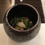 日本料理 花菊 - 小鉢:大和まなのお浸し 針ゆず