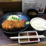 牛かつ おか田 - 牛ロースランチかつセット(1400円)
