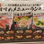 無添くら寿司 - おすすめメニューランキング(2018.07.23)