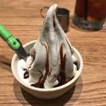 Bistro MULCHEE 大手町店 - LUNCH SET ¥300 ソフトクリーム + アイスティー