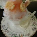 89736111 - 桃のかき氷