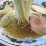 らーめん木蓮 - 焼あご出汁の塩ラーメンの麺