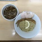 ラーメン たぬき屋 - (季節メニュー)サバ醤油つけ麺(並)200g 870円