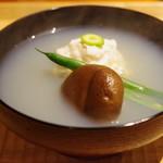 悠然 いしおか - 料理写真:大野産浅蜊の真薯の椀