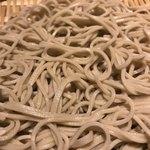 89745634 - 自家製麺 国産石臼挽き 十割蕎麦。                       美味し。
