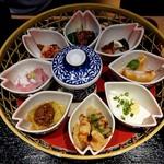寧々家 - 姫御膳の小鉢たち