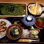 寧々家 - 茶蕎麦と夏野菜の天ぷら御膳
