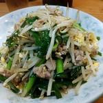 中華飯店青柳 - 肉ニラ炒め