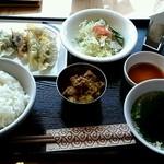 まいど コルカタレストラン - 餃子セット6個¥850