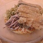 萬来軒 - 料理写真:冷やし担々麺にパーコー!