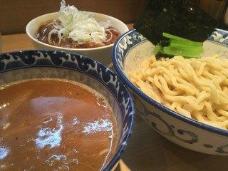 ラーメン雷鳥 - つけ麺、ミニ牛スジカレー