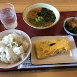八幡食堂 - ある日の昼食夏メニュー推し
