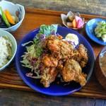 TOUSHA - 私の山椒と生海苔の唐揚げ定食♪