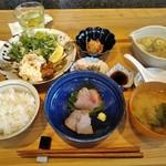 宮崎風土 くわんね - [料理] くわんね定食 セット全景♪w
