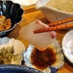 宮崎風土 くわんね - [料理] 刺身 (カンパチ) アップ♪w
