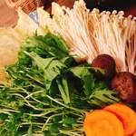 Go-En 京都三条新町 - セットの野菜