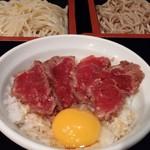 Shinjukusobakura - 二色そば・ハーフ丼付き(ステーキ丼)前回訪問