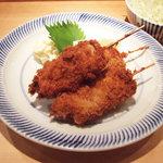 カフェ マメヒコ パートⅢ - 串かつ単品(950円)