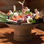 個室居酒屋 番屋 - 番屋名物 鮮魚鬼盛り(1,980円)