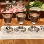 個室居酒屋 番屋 - 獺祭 唎酒セット(780円)