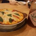 久松 - ナスとトマトのチーズ焼き ¥650