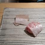 鮨 巳之七 - キスと真鯛。