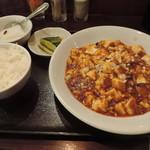 89773906 - ランチの本格四川麻辣豆腐かけ冷麺セット