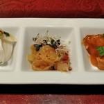 中国料理 孔雀楼 - 料理写真:[料理] 前菜3種 全景♪w