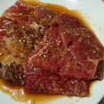 牛角 - 牛角ランチのお肉