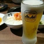牛角 - 生ビール¥500おかわり♪