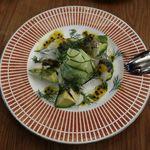 YPSILON Aoyama - 若狭鯵のマリネとアボカドサラダ パッションフルーツソース