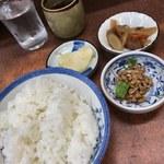 味のよし多 - ご飯と副菜