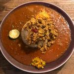 89783215 - チキンキーマ+トマトカレー+お肉のカレー(ラムキーマ)